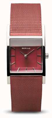 Bering Women's Classic | Polished Silver | Blue Mesh Bracelet 10426-303-S
