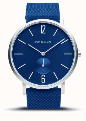 Bering True Aurora | Blue Rubber Strap | Blue Dial 16940-709