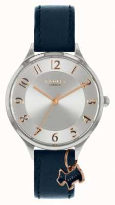 Radley Saxon Road | Navy Leather Strap | Silver Dial RY2965