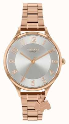 Radley Saxon Road | Rose Gold Steel Bracelet | Silver Dial RY4506