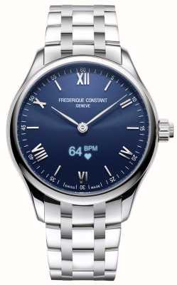 Frederique Constant Men's | Vitality | Smartwatch | Blue Dial | Stainless Steel FC-287N5B6B
