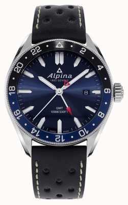Alpina Alpiner Quartz GMT | Blue Dial | Black Leather Strap AL-247NB4E6