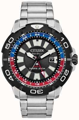 Citizen Promaster Diver GMT | Stainless Steel Bracelet | Black Dial BJ7128-59E