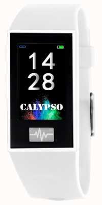 Calypso Unisex | Smartime | White Silicone Strap + Free Strap K8500/1