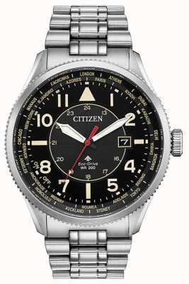 Citizen Men's Promaster Nighthawk Stainless Steel Black Dial Watch BX1010-53E