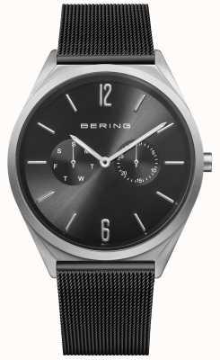 Bering Ultra Slim | Black Steel Mesh Strap | Black Dial 17140-102