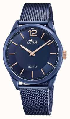 Lotus Men's Stainless Grande Steel Mesh Blue 18735/1