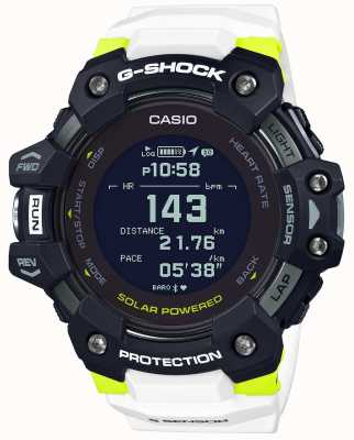 Casio G-SHOCK | G-SQUAD | Heart Rate Monitor | Bluetooth | White | GBD-H1000-1A7ER