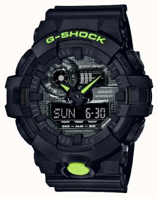 Casio G-SHOCK | Digital Camo | Black Resin GA-700DC-1AER
