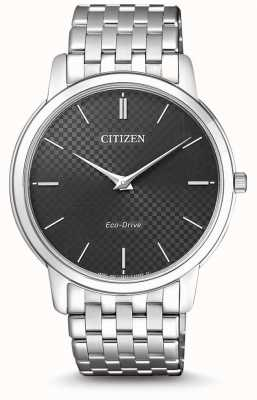 Citizen Mens Stiletto Ultra Thin Black Dial Watch AR1130-81H