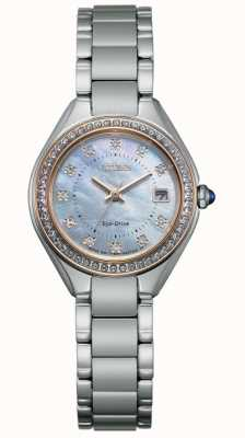 Citizen Ladies Silhouette Crystal Stainless-steel Mother-of-pearl Dial Watch EW2556-59Y