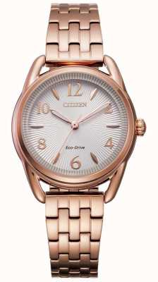 Citizen Ladies Silhouette Eco-Drive Rose-gold IP Watch FE1213-50A