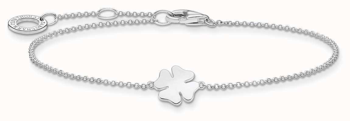 Thomas Sabo Charming | Silver Cloverleaf Bracelet | 925 Sterling Silver | 16-19cm A1990-001-21-L19V