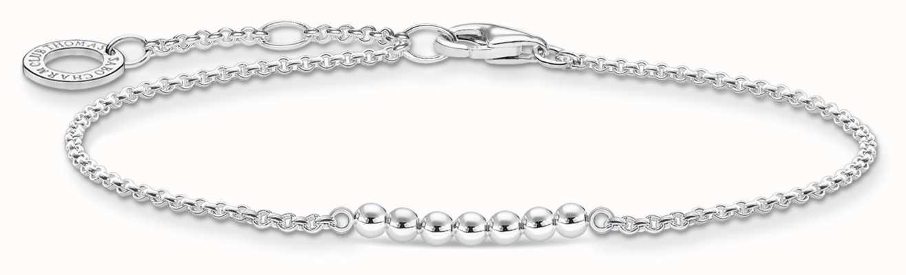 Thomas Sabo Silver Dots Bracelet | 925 Sterling Silver | 16-19cm A2001-001-21-L19V