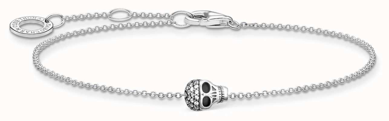 Thomas Sabo Silver Skull Bracelet | 925 Sterling Silver | 16-19cm A2002-643-14-L19V