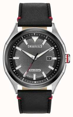 Citizen Mens's Strap Eco-drive Black dial | Black Leather | Watch AW1148-09E