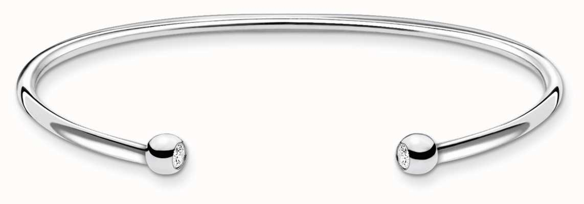 Thomas Sabo Minimalist Silver Bangle | Silver Dots | 15.5 Cm AR103-051-14-L15,5