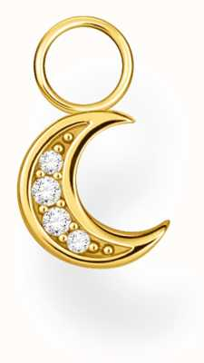 Thomas Sabo 18k Yellow Gold Single Moon Earring Pendant EP003-414-14