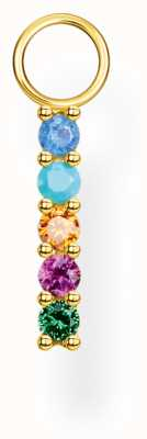 Thomas Sabo 18k Yellow Gold Colourful Stones Single Earring Pendant EP007-488-7