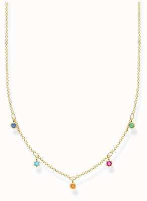 Thomas Sabo 18k Yellow Gold Plated Necklace   Colourful Stones KE2071-488-7-L45V