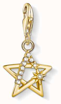 Thomas Sabo Charming | 18k Yellow Gold Plated Star Charm Pendant 1851-414-14
