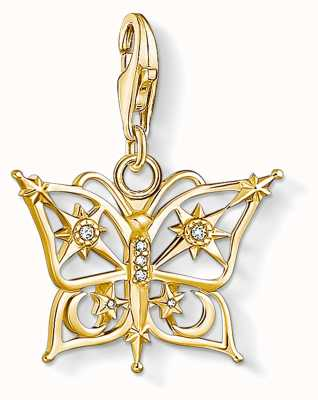 Thomas Sabo Charming   18k Yellow Gold Plated Butterfly,Star&Moon Charm Pendant 1853-414-14