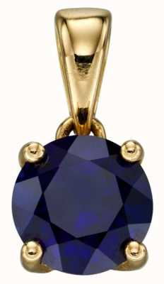 Elements Gold 9k Yellow Gold Sapphire September Pendant Only GP2196