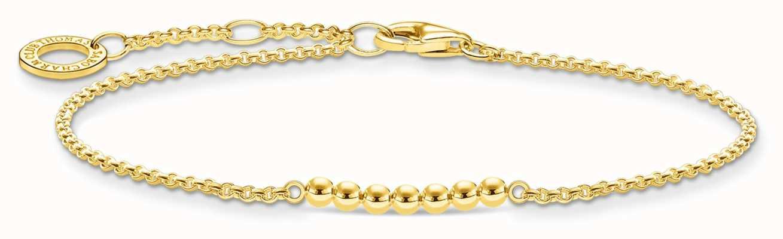 Thomas Sabo 18k Yellow Gold Plated Dots Bracelet A2001-413-39-L19V
