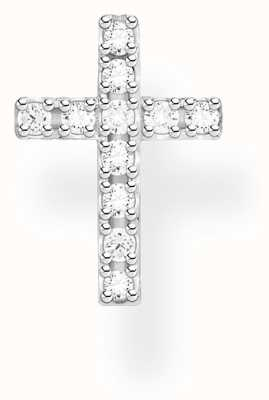 Thomas Sabo Sterling Silver Single Cross Stud Earring | Zirconia-Pavé H2131-051-14