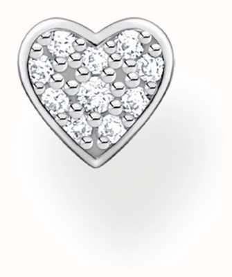 Thomas Sabo Sterling Silver Small Heart Single Stud Earring H2145-051-14
