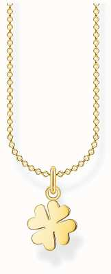 Thomas Sabo 18k Yellow Gold Plated Cloverleaf Necklace | 38-45cm KE2037-413-39-L45V