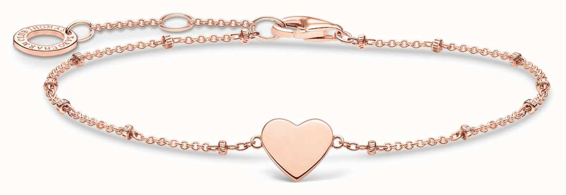 Thomas Sabo Rose Gold Hearts Bracelet | Rose Gold Dots | 16-19cm A1991-415-40-L19V