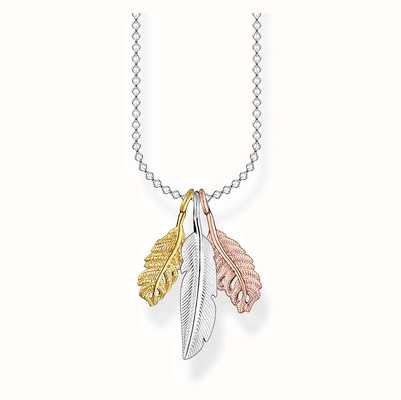 Thomas Sabo Necklace Feathers 45cm Women's Gold Plated KE2054-431-7-L45V