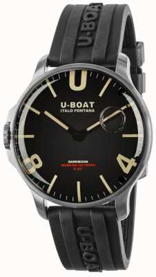 U-Boat Darkmoon 44mm Rubber Strap Stainless Steel 8463
