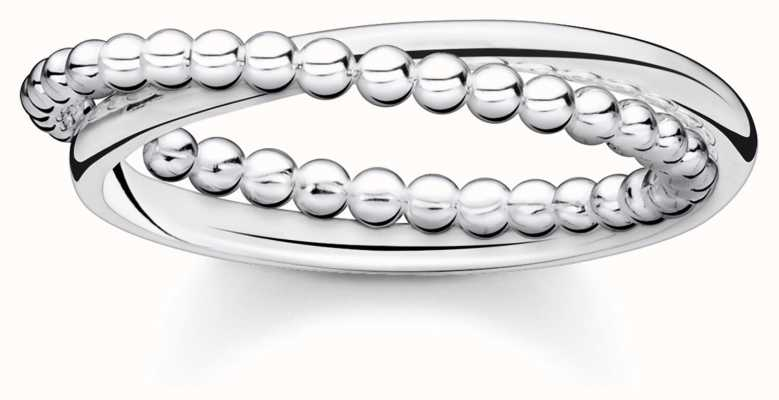 Thomas Sabo Sterling Silver Double Dot Charming Affect Ring (UK O 1/2 - P) TR2321-001-21-56