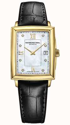 Raymond Weil Women's Toccata | Black Leather Strap | Mother Of Pearl Dial 5925-PC-00995