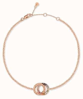 Radley Jewellery Sterling Silver 18ct Rose Gold Double Hoop Bracelet RYJ3084