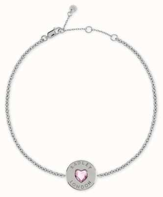 Radley Jewellery Sterling Silver Heart Disc Bracelet RYJ3079