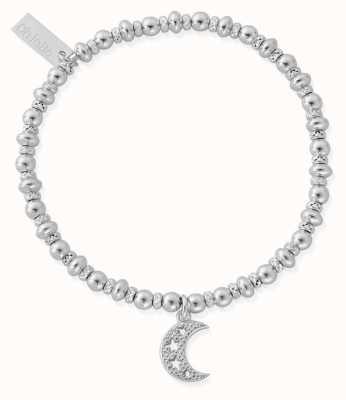 ChloBo Didi Sparkle Starry Moon Bracelet   Sterling Silver SBDS3078