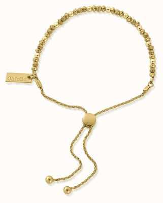 ChloBo Dainty Mini Disc Pumpkin Adjuster Bracelet  18ct Gold Plated GBMDPA