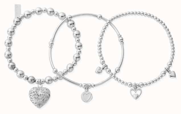 ChloBo Compassion Set Of 3 Bracelets   Sterling Silver SBSTA3L