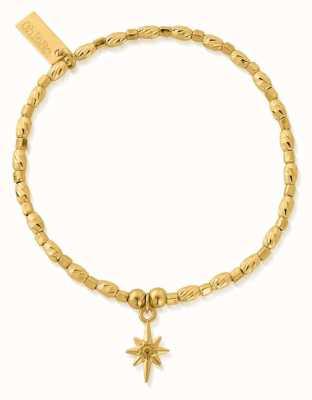 ChloBo Soul Glow Lucky Star Bracelet   18ct Gold Plated GBCFR2074