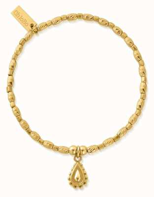 ChloBo Soul Glow Rain Drop Bracelet   18ct Gold Plated GBCFR3084