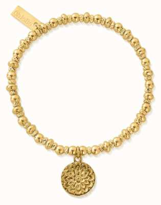 ChloBo Didi Sparkle Moonflower Bracelet | 18ct Gold Plated GBDS3090