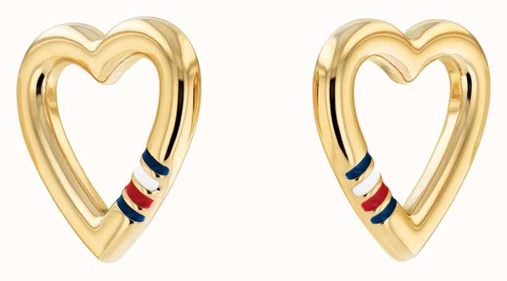 Tommy Hilfiger Women's Casual Core Gold Plated Heart Stud Earrings 2780471