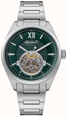 Ingersoll THE SHELBY Automatic Green Dial Stainless Steel Bracelet I10903