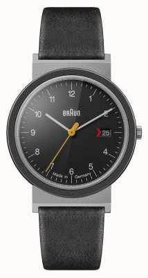 Braun Mens Classic Black Dial Black Leather Strap AW10EVO