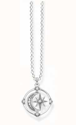 Thomas Sabo Sterling Silver Star And Moon Necklace | KE1985-643-14-L50V