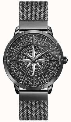 Thomas Sabo | Men's | Spirit | Black Mesh Bracelet | 3-D Compass Dial | WA0374-202-203-42