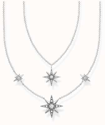 Thomas Sabo Sterling Silver Star Necklace | 40-45cm KE1984-643-14-L45V